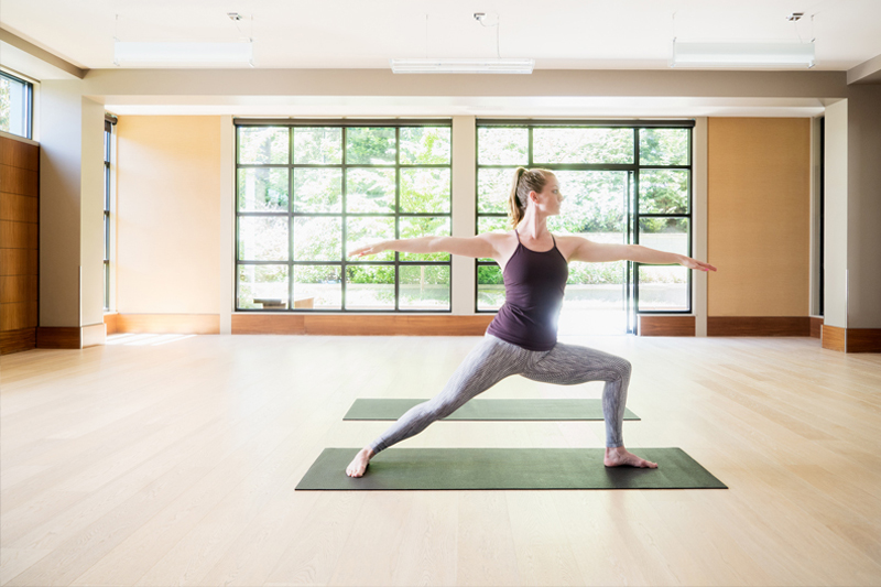 Bellevue Club Yoga Studio warrior