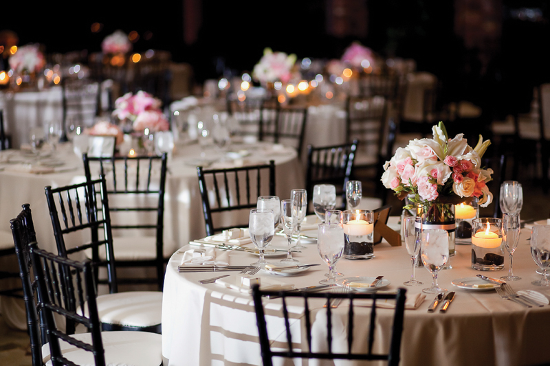 Wedding Tables in Ballroom