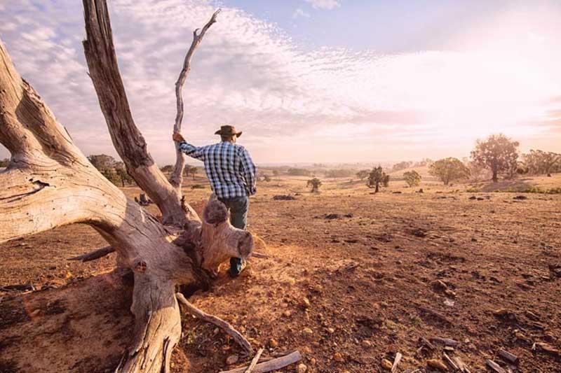 Man in Australia