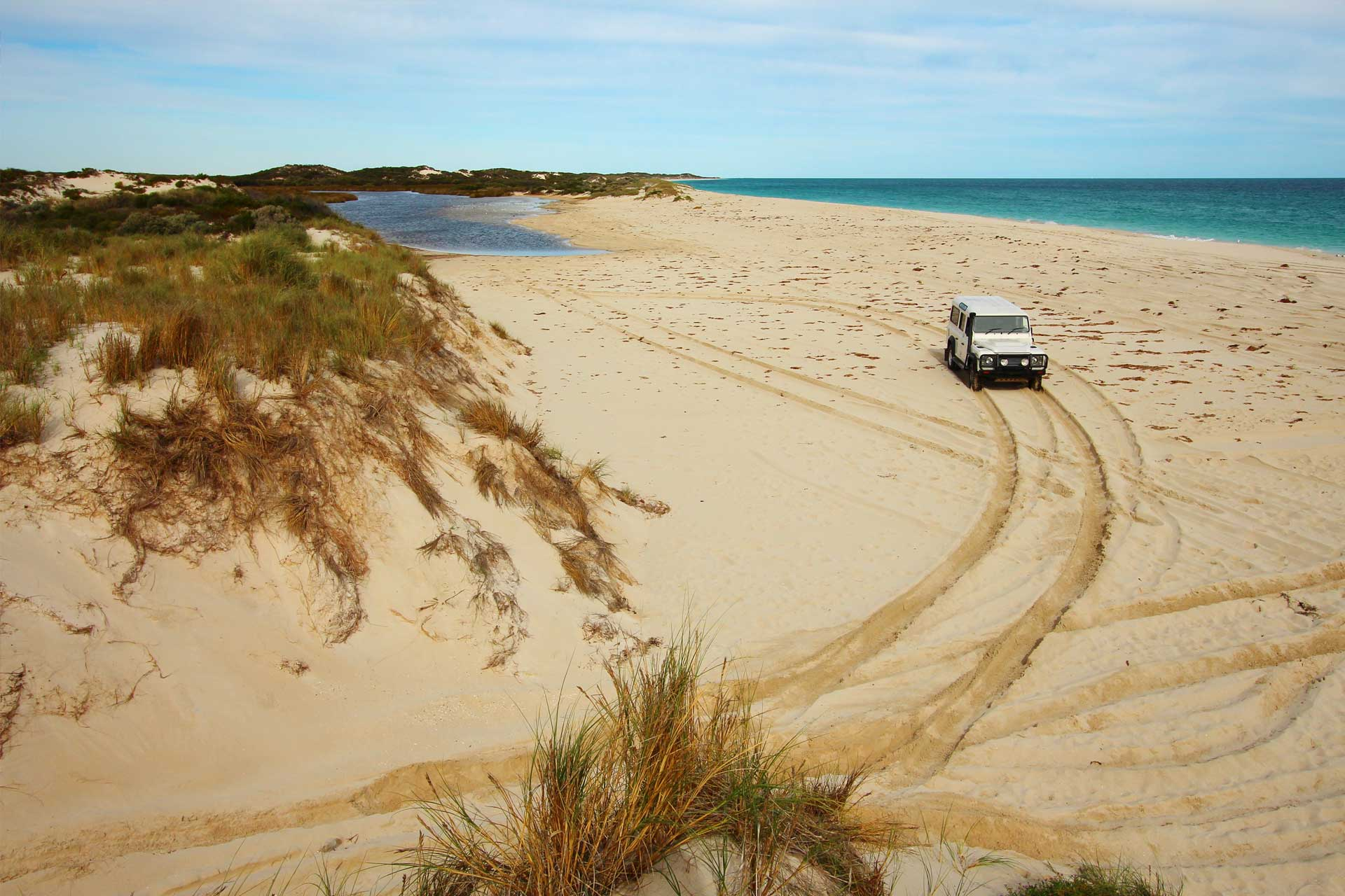 Jeep on Beach in Australia