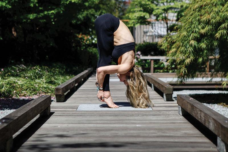 Yoga in the Zen Garden