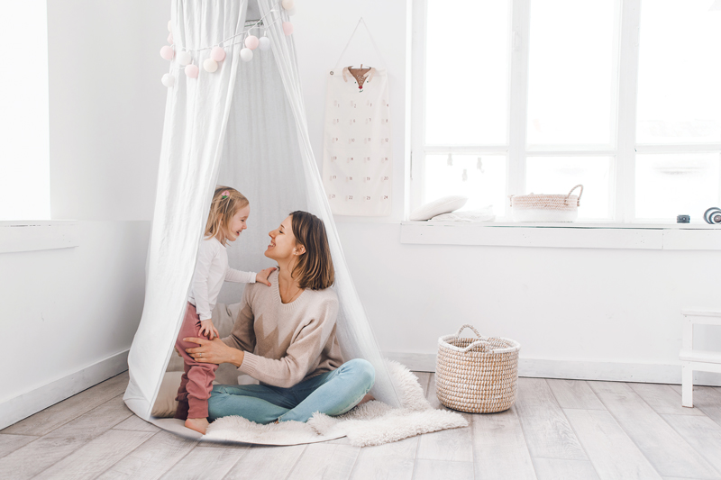 Featured photo of mother daughter in meditation nook